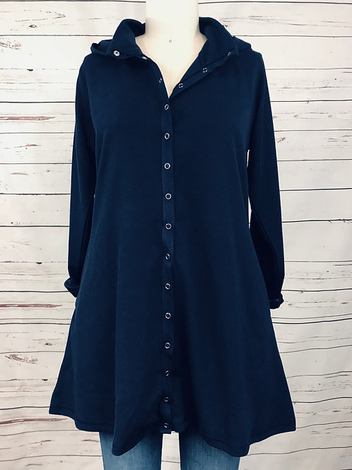 Cubism Snap Long Hood in Navy