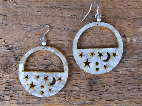 ZAD Carved from Moonlight Earrings