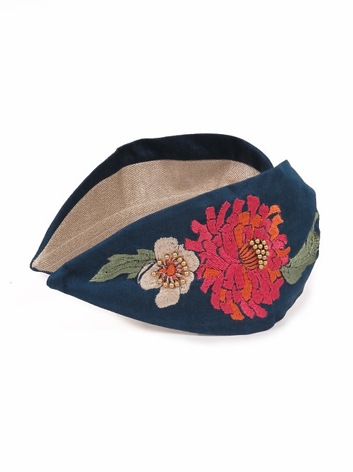 Powder UK Retro Meadow Embroidered Headband