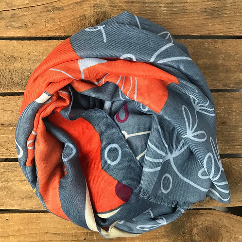 Powder UK Print Scarf in Fox and Hare Print