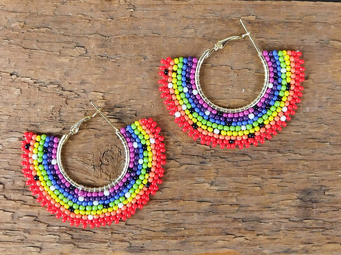 ZAD Rainbow Hoops Earrings
