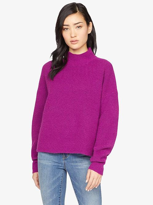 Sanctuary Fuzzy Mock Sweater in Magenta