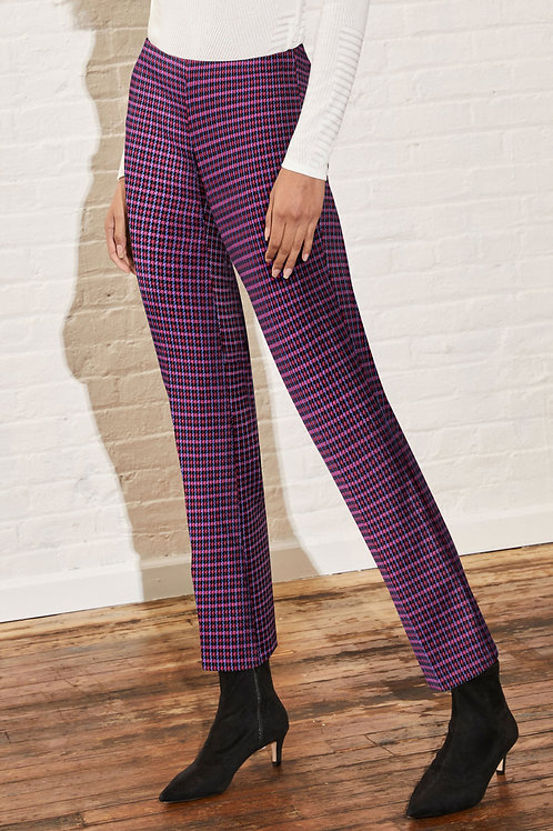 Ecru Springfield Pant in Berry Houndstooth