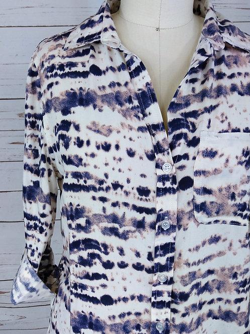 Velvet Heart Elisa Button Up in Tie Dye