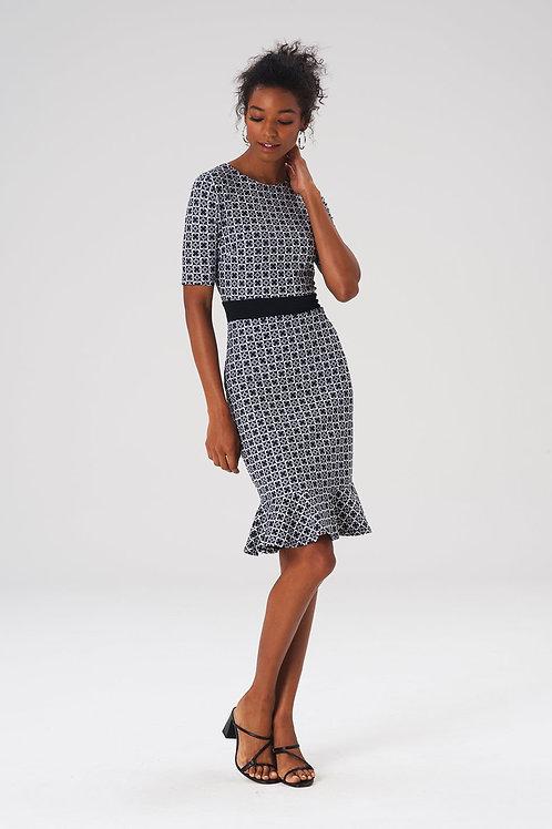Leota Perfect Gia Dress in Chainmail Print