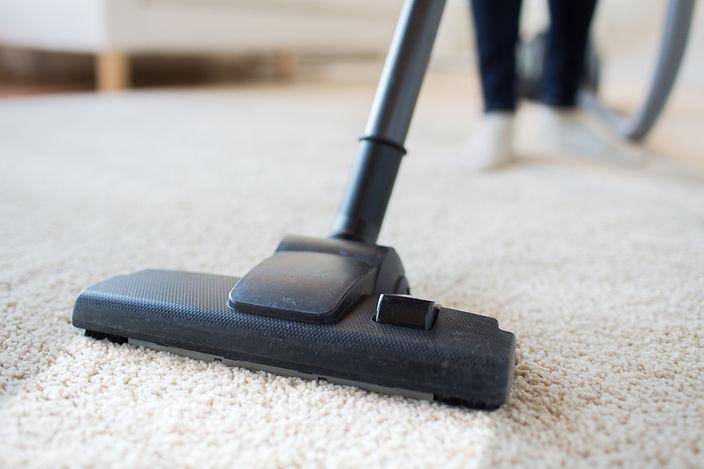Hoovering carpet