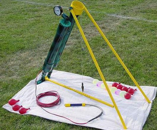 My Air Cannons Remote FIred Water Baloon Launcher
