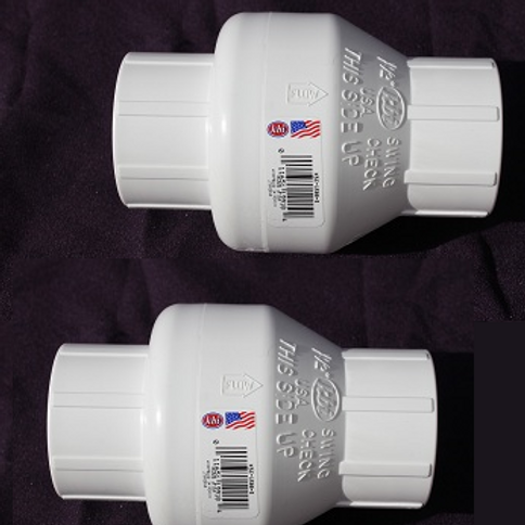 """Set of Two 1 1/2"""" Swing Check Valves"""