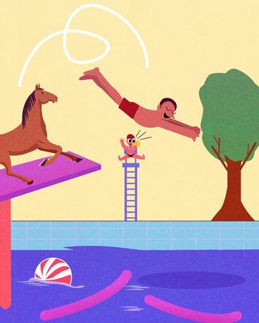 Cheval et natation