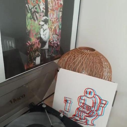SP 404 vinyle by Dann Lee sérigraphie Le Cagibi