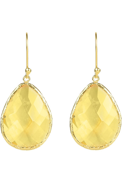 Single Drop Earring Citrine Hydro Gold