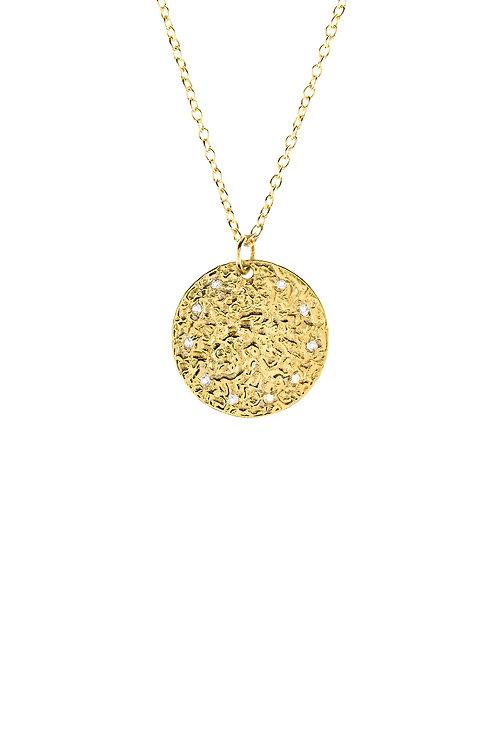 Cosmic Full Moon Necklace - White Topaz
