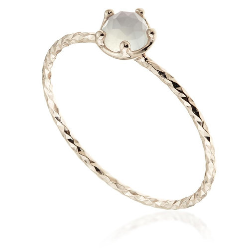 Leto Rose Gold Chalcedony Stacking Ring