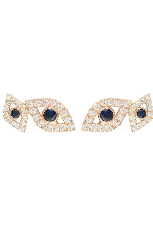 Eye Stud Earrings Rosegold
