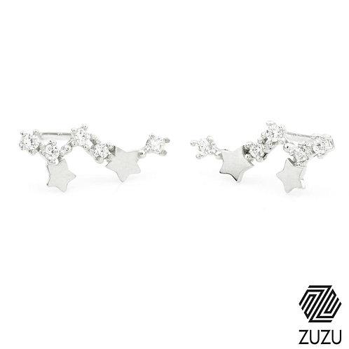 Silver Constellation & Stars Stud Earrings
