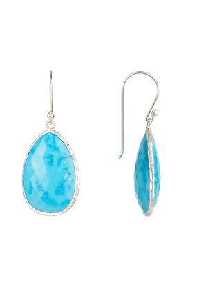 Single Drop Earring Turquoise Silver