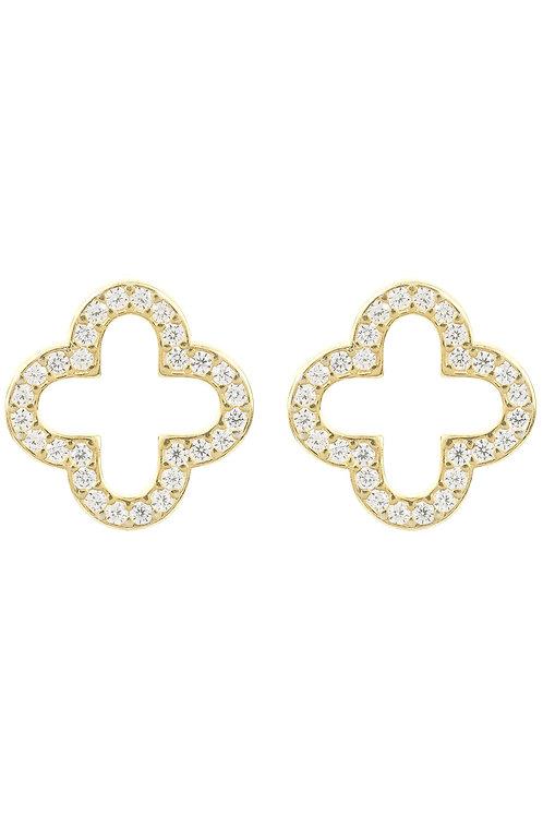 Open Clover Earring