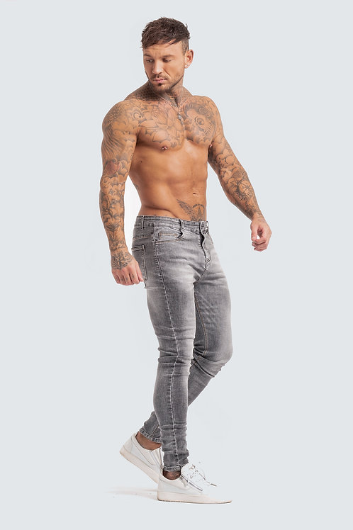 Skinny 'Essential' Jeans - Pewter Grey