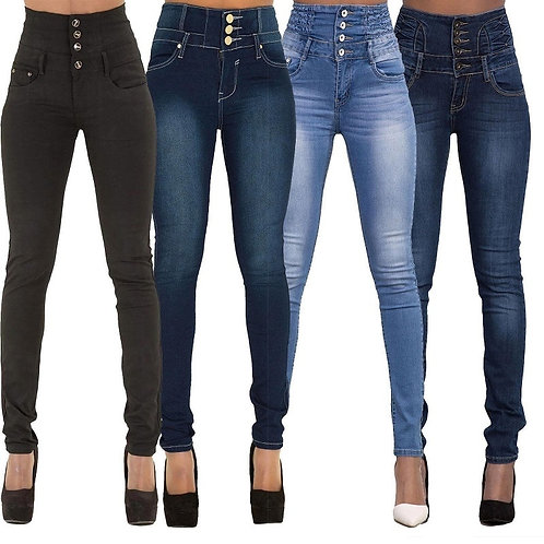 New Arrival Woman Denim  Top Brand Stretch Jeans High Waist Pants Women
