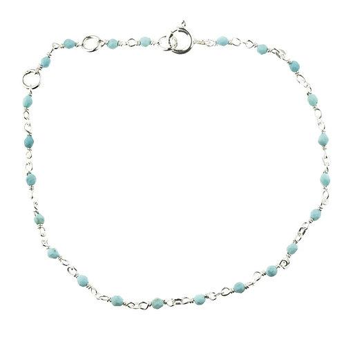 Aphrodite Silver Turquoise Layered Bracelet
