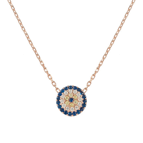 Evil Eye Necklace Rosegold