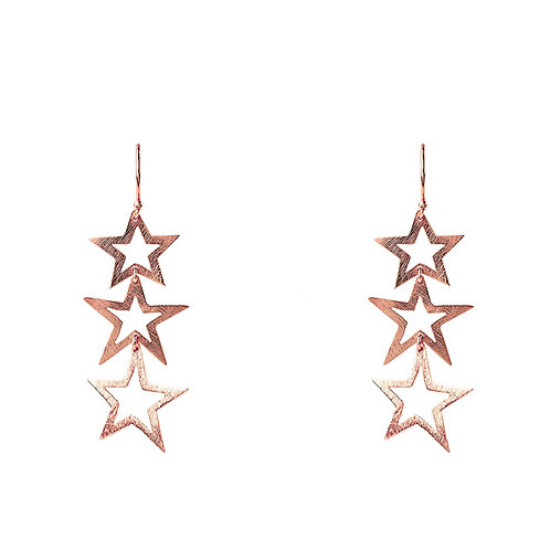 Cosmic Triple Open Star Earring