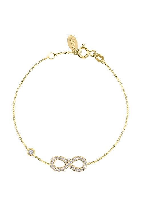 Eternity Infinity Bracelet Gold