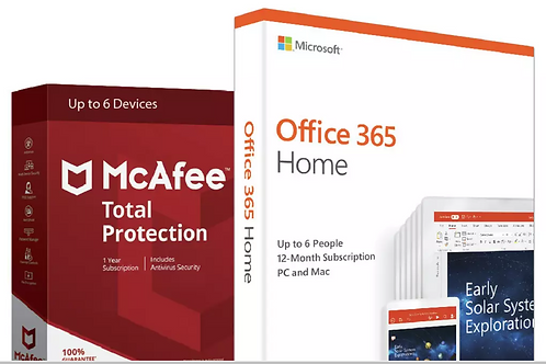 Office 365 (Now Microsoft 365) Home & McAfee 6 Devices
