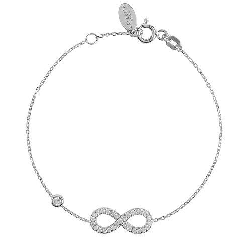 Eternity Infinity Bracelet Silver