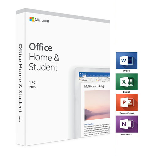 OFFICE 2019 HOME AND STUDENT Permanently valid for PC Only