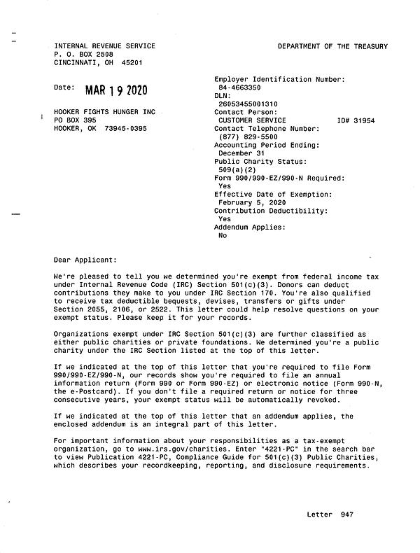 IRS 501(c)(3) Determination Letter.tif