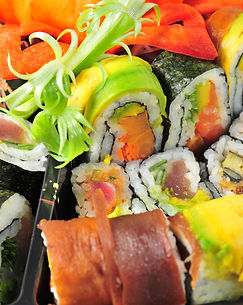Colourful Sushi Meal