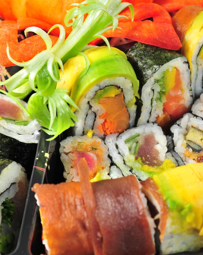 盛り合わせ寿司ロール