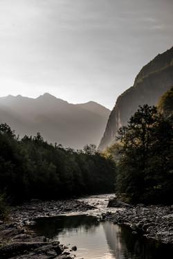 River in morning