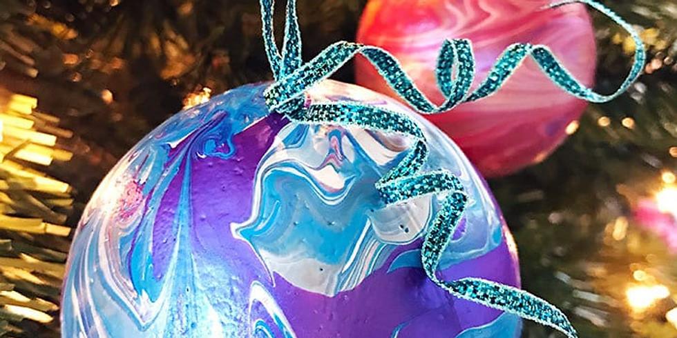 Acrylic Pour Ornaments