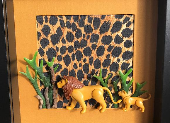 Le lion et son lionceau