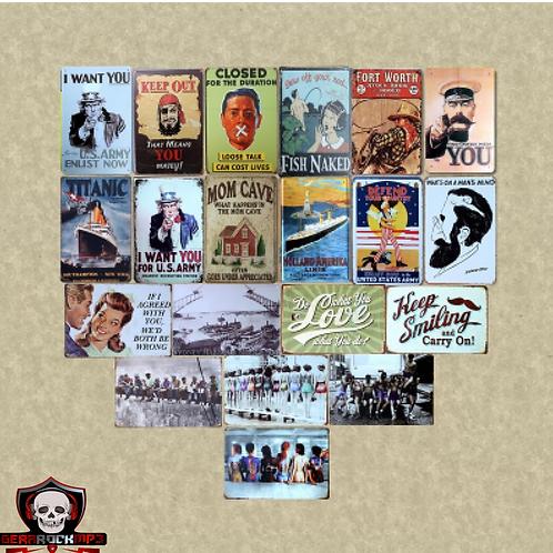 Placa Vintage - Bandas de Rock