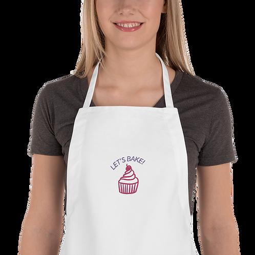 Lets Bake! Embroidered Apron