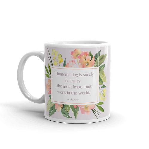 Homemaking quote mug