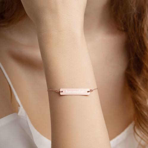 Homemaker Bar Chain Bracelet