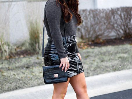 Latex Skirt... Yes I'm Wearing A Latex Skirt