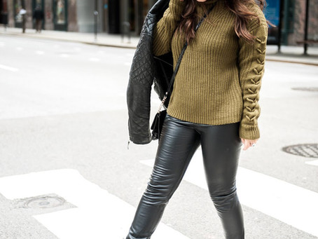 Dark Olive and Leather