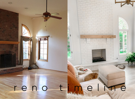 Our Home Reno Timeline