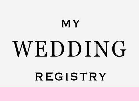 My Favorite Items on My Wedding Registry