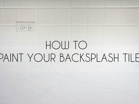 How to Refinish Backsplash Tile (+ VIDEO)