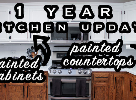 1 Year Kitchen Update After Painting My Cabinets and Countertops (+ VIDEO)