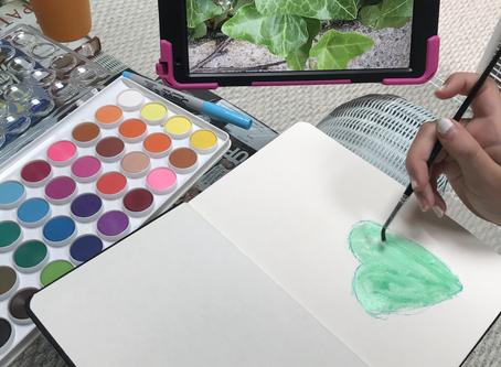 Encouraging Process Art Virtually