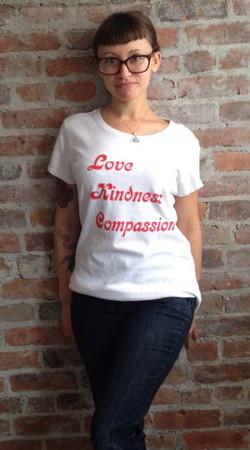 love kindness compassion groovy hemp t shirt peace nation