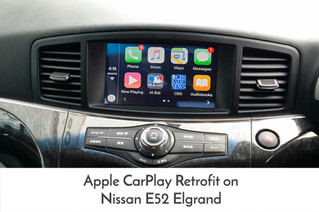 Apple CarPlay / Android Auto Retrofit for Nissan E52 Elgrand - perfect update for JDM vehicle.