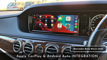 Mercedes Benz W222 S500 -  CarPlay & Android Auto Integration done